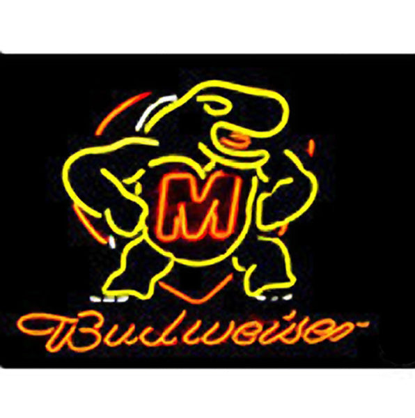 Ncaa Maryland Turtle Budweiser Neon Light Sign