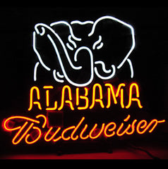New Budweiser Alabama Beer Bar Neon Light Sign