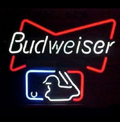 New Budweiser Beer Mlb Major Baseball Beer Bar Neon Light Sign