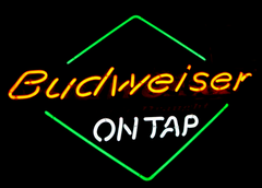Budweiser On Tap Classic Draught Beer Neon Sign