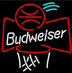 Budweiser Basketball Beer Neon Sign