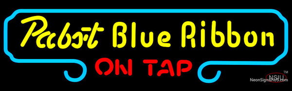 Pabst Blue Ribbon On Tap Neon Beer Sign