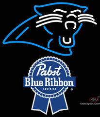 Pabst Blue Ribbon Carolina Panthers NFL Neon Sign