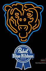 Pabst Blue Ribbon Chicago Bears NFL Neon Sign