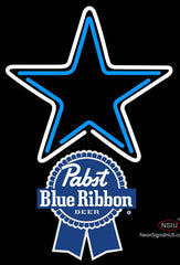 Pabst Blue Ribbon Dallas Cowboys NFL Neon Sign