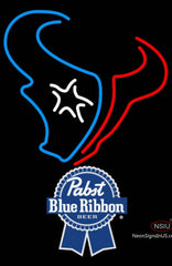 Pabst Blue Ribbon Houston Texans NFL Neon Sign