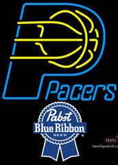Pabst Blue Ribbon Indiana Pacers NBA Neon Sign