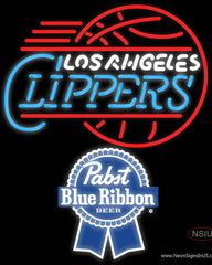 Pabst Blue Ribbon Los Angeles Clippers NBA Real Neon Glass Tube Neon Sign