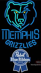 Pabst Blue Ribbon Memphis Grizzlies NBA Neon Sign
