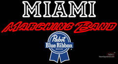 Pabst Blue Ribbon Miami UNIVERSITY Band Board Neon Sign