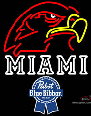 Pabst Blue Ribbon Miami UNIVERSITY Fall Session Neon Sign