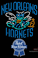 Pabst Blue Ribbon New Orleans Hornets NBA Neon Sign