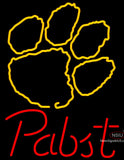 Pabst Clemson UNIVERSITY Tiger Print Neon Sign