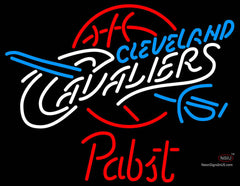 Pabst Cleveland Cavaliers NBA Beer Neon Sign