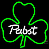 Pabst Green Clover Neon Beer Sign x