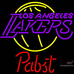 Pabst Los Angeles Lakers NBA Beer Neon Sign