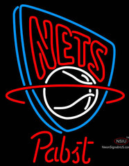 Pabst New Jersey Nets NBA Beer Neon Sign