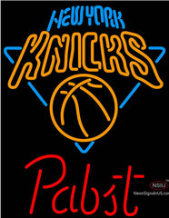 Pabst New York Knicks NBA Beer Neon Sign
