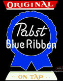 Pabst Blue Ribbon Original On Tap Neon Beer Sign