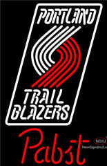 Pabst Portland Trail Blazers NBA Beer Neon Sign