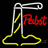 Pabst Red Light House Neon Beer Sign x