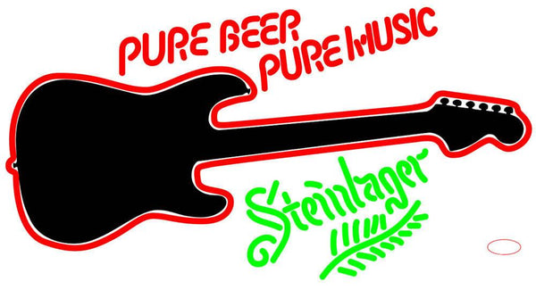 Pure Beer Pure Music Steinlager Metal Neon Beer Sign
