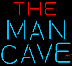 Red And Blue The Man Cave Neon Sign x