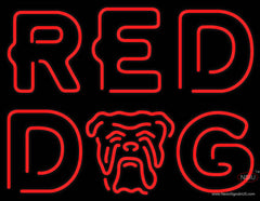 Red Dog Real Neon Glass Tube Neon Sign