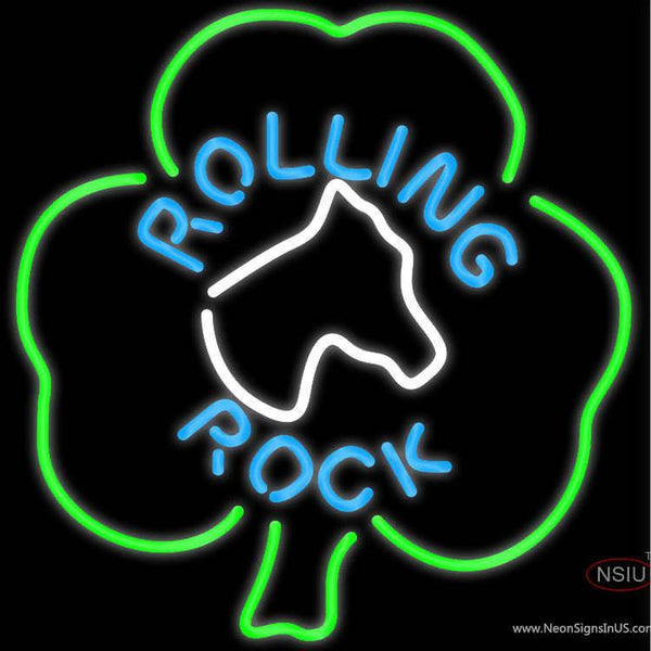 Rolling Rock Horse Head Shamrock Neon Beer Sign x