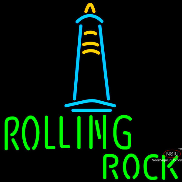 Rolling Rock Lighthouse Lounge Neon Beer Sign x