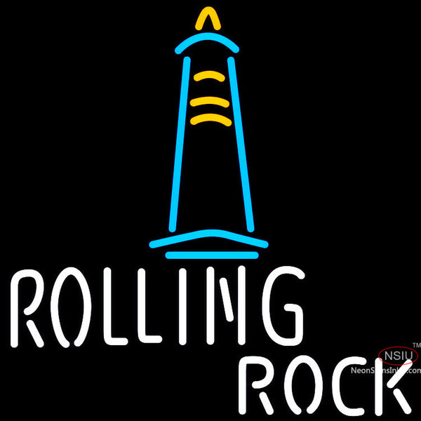Rolling Rock Lighthouse Neon Beer Sign