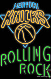 Rolling Rock Single Line New York Knicks NBA Real Neon Glass Tube Neon Sign
