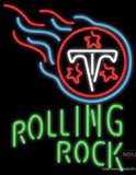 Rolling Rock Single Line Tennessee Titans NFL Real Neon Glass Tube Neon Sign