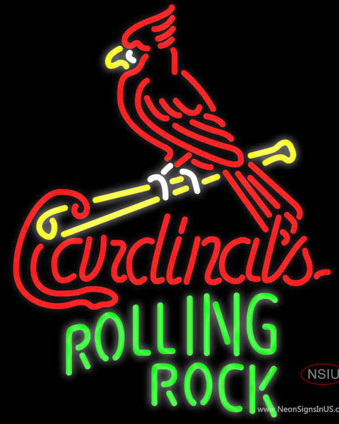 Rolling Rock St Louis Cardinals MLB Neon Beer Sign