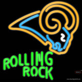 Rolling Rock St Louis Rams NFL Neon Beer Sign x