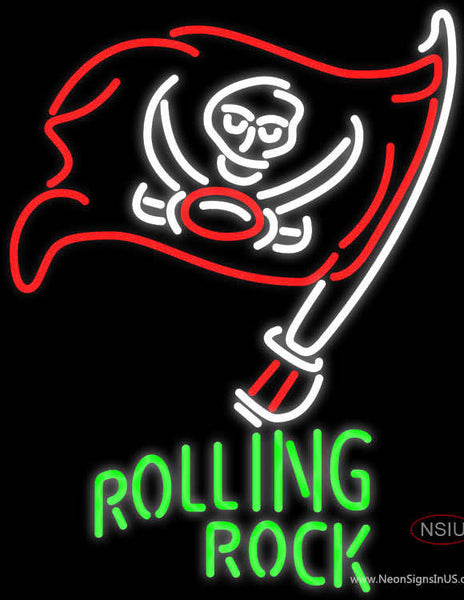 Rolling Rock Tampa Bay Buccaneers NFL Neon Beer Sign