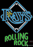 Rolling Rock Tampa Bay Rays MLB Neon Beer Sign