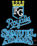 Samual Adams Double Line Kansas City Royals MLB Real Neon Glass Tube Neon Signs