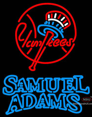 Samual Adams Double Line New York Yankees MLB Neon Sign