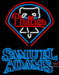 Samual Adams Double Line Philadelphia Phillies MLB Neon Sign