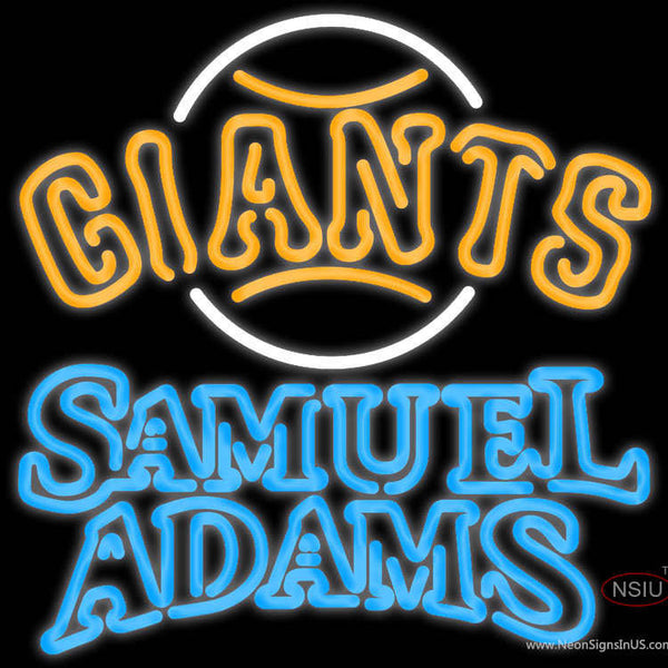 Samual Adams Double Line San Francisco Giants MLB Real Neon Glass Tube Neon Sign