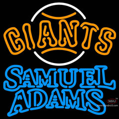 Samual Adams Double Line San Francisco Giants MLB Neon Sign