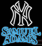 Samual Adams Double Line White MLB Real Neon Glass Tube Neon Sign