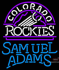 Samual Adams Single Line Colorado Rockies MLB Neon Sign