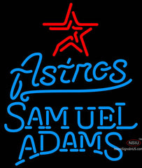 Samual Adams Single Line Houston Astros MLB Neon Sign