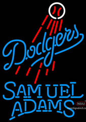 Samual Adams Single Line Los Angeles Dodgers MLB Neon Sign