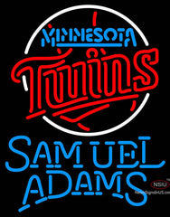 Samual Adams Single Line Minnesota Twins MLB Neon Sign