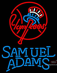 Samual Adams Single Line New York Yankees MLB Neon Sign