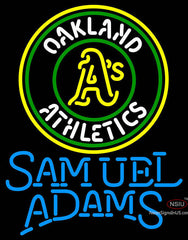 Samual Adams Single Line Oakland As MLB Neon Sign