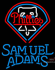 Samual Adams Single Line Philadelphia Phillies MLB Neon Sign